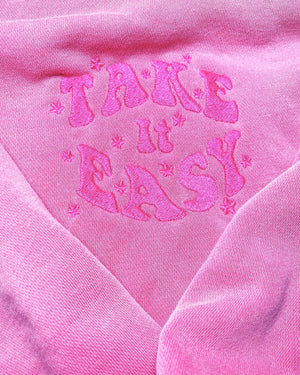 Take It Easy Pigment Dyed Crew Neck