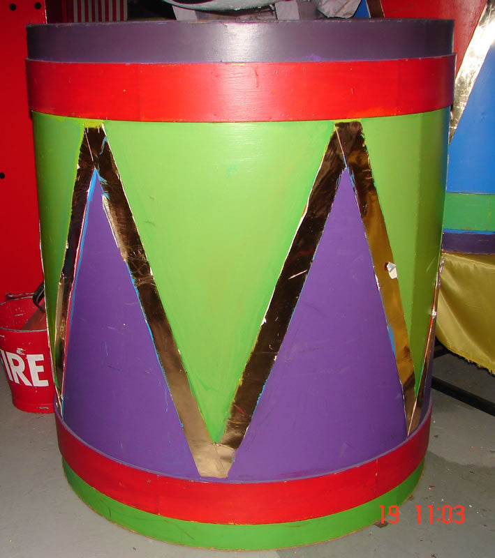 Drums, Brightly Painted