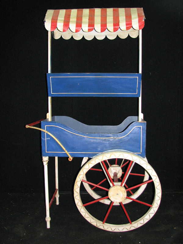 French Market Cart with Red & White Canopy