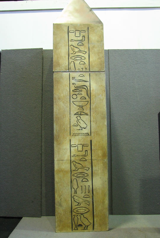Column, Obelisk with Hieroglyphics