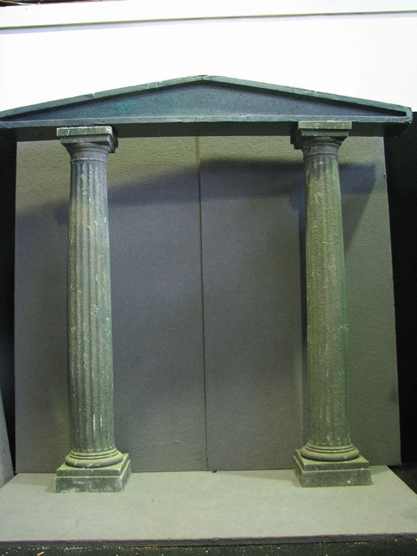 Column, Resin Fluted with Stone Finish and Portico