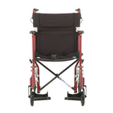 NOVA ALUMINUM TRANSPORT CHAIR RED