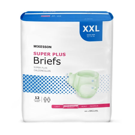 MCKESSON ADULT INCONTINENCE BRIEF SUPER PLUS MODERATE ABSORBENCY XX-LARGE