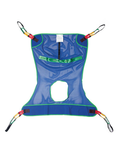 REUSABLE FULL-BODY PATIENT SLING WITH COMMODE OPENING LARGE