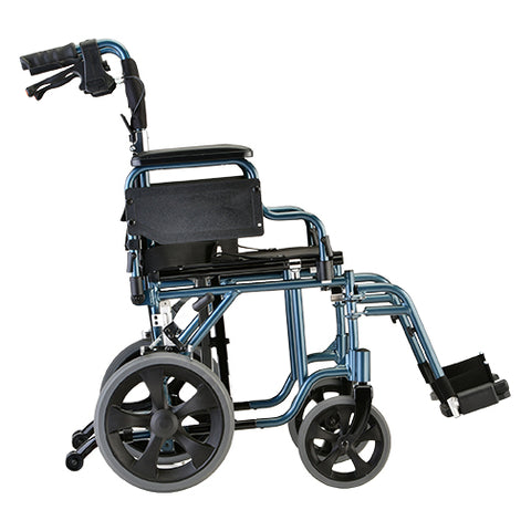 NOVA ALUMINUM TRANSPORT  CHAIR BLUE