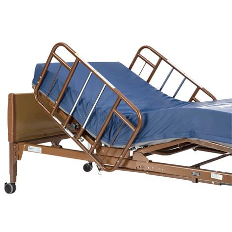 SEMI ELECTRIC HOSPITAL BED WITH FOAM MATTRESS AND HALF RAILS