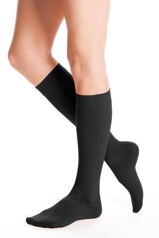 BELOW THE KNEE 20-30 mmHg COMPRESSIONG STOCKING SMALL BLACK