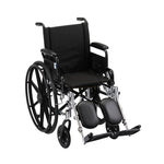 NOVA LIGHTWEIGHT WHEELCHAIR W/ ELEVATING LEG RESTS 16""