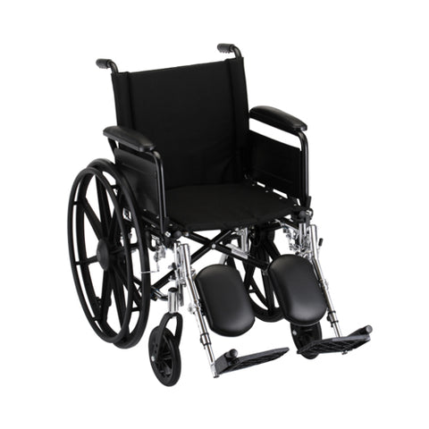 NOVALIGHTWEIGHT WHEELCHAIR W/ ELEVATING LEG RESTS 18""