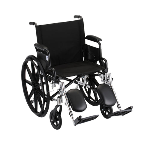 NOVA LIGHTWEIGHT WHEELCHAIR W/ ELEVATING LEG RESTS 20''