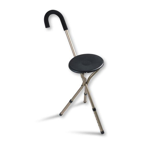 ADJUSTABLE FOLDING SEAT CANE