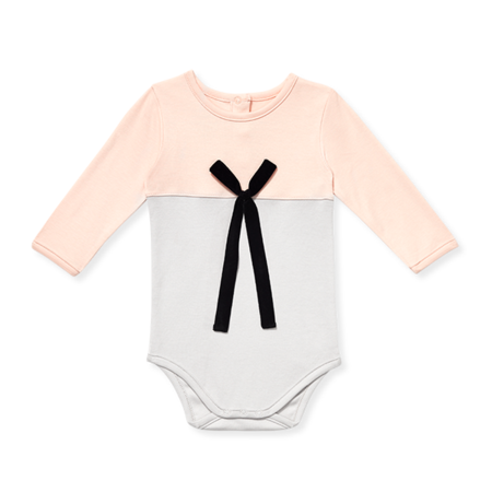 Sasha & Lucca - Baby Long-Sleeve Onesie With Bow