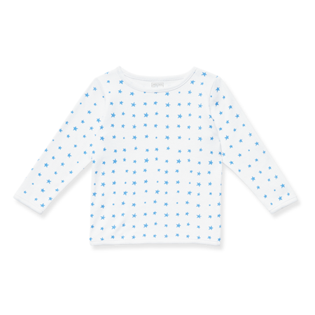 Sasha & Lucca - Long Sleeve White and Blue Stars