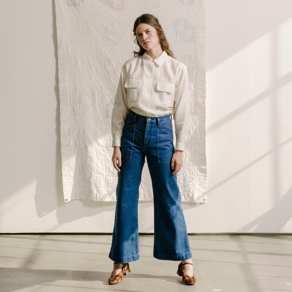 Carleen Hannah Jean Blue Denim