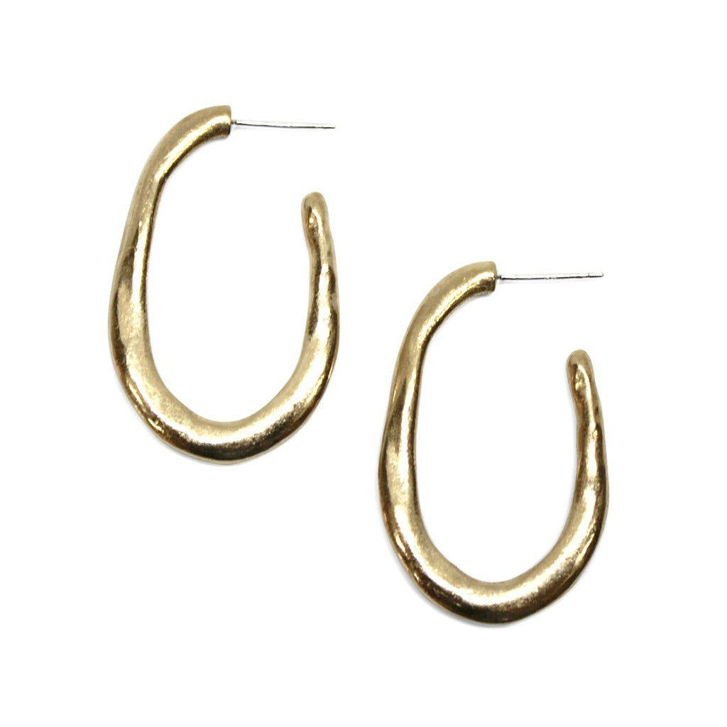Amanda Hunt Lake Hoop Earrings