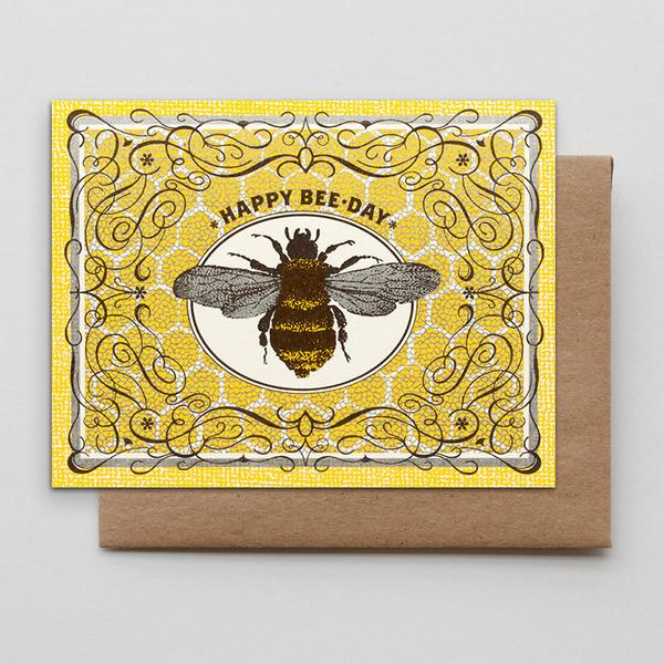 "Hammerpress - ""Happy Bee Day"" Card"