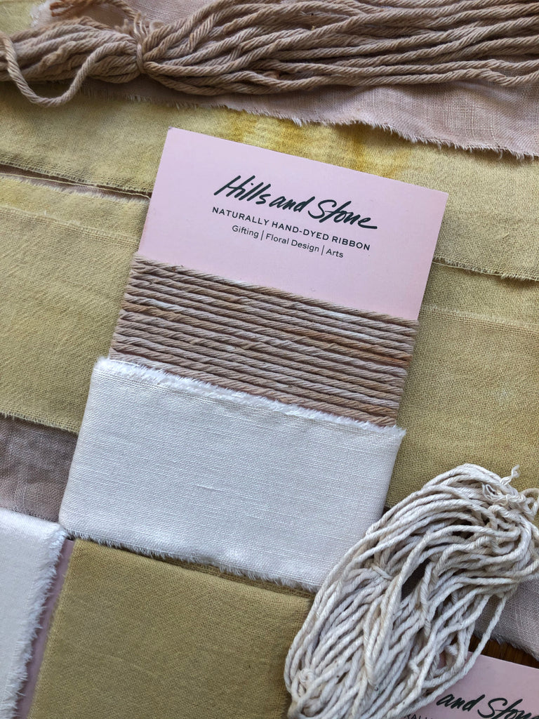 Hills and Stone - Naturally Hand-Dyed Ribbon