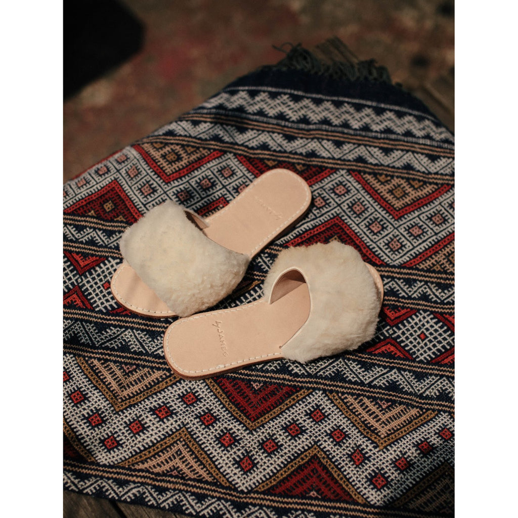 by james sheep skin sandals
