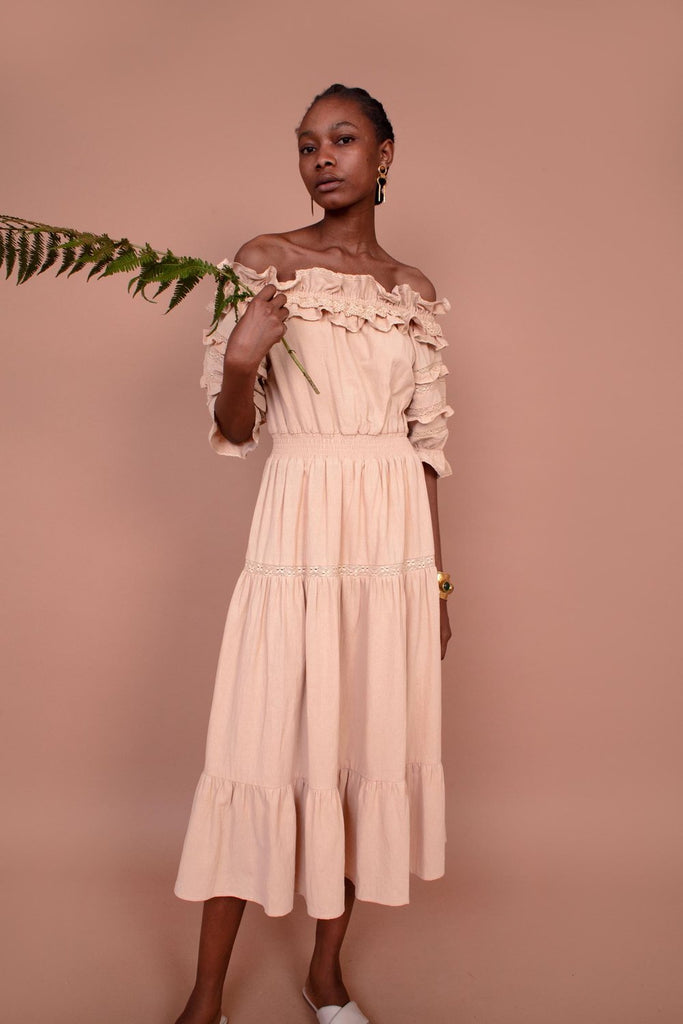 Meadows - Blossom Dress in Wheat