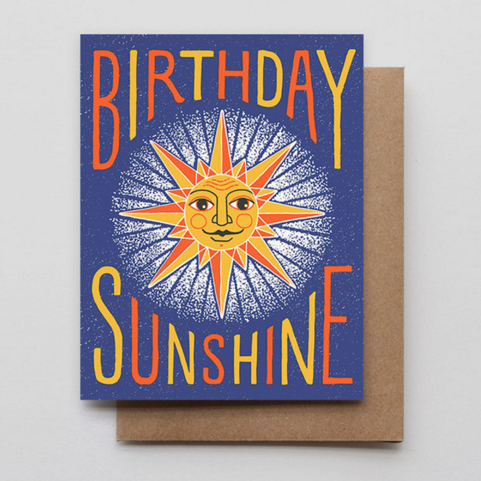 HAMMERPRESS - Birthday Sunshine Card
