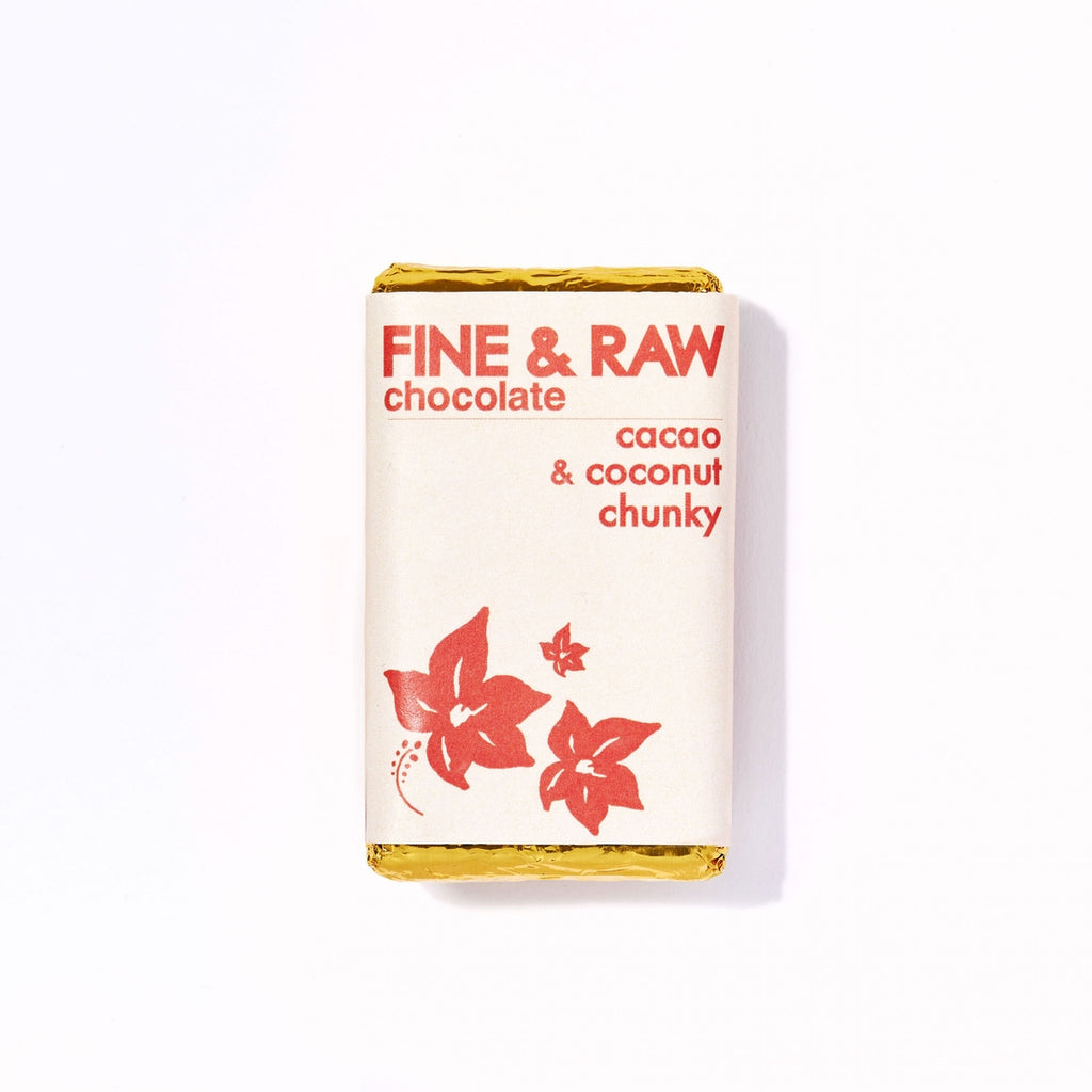 Fine & Raw - 1.5oz Cacao and Coconut Chunky Chocolate