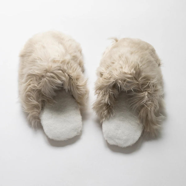 Intiearth - Alpaca Slippers in Sand
