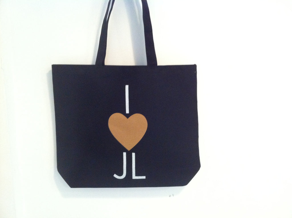 I Heart JL Black Tote Bag