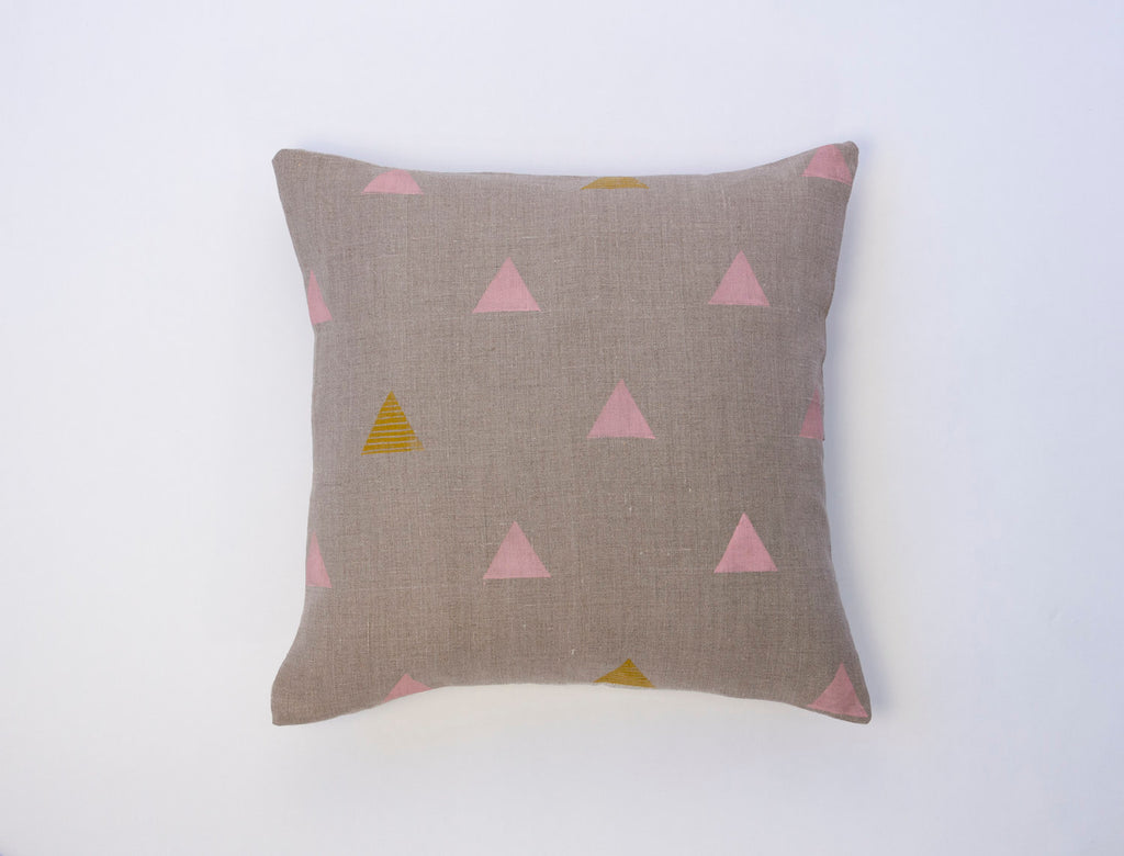 For Reasons Unknown - Trigon Pink Pillow