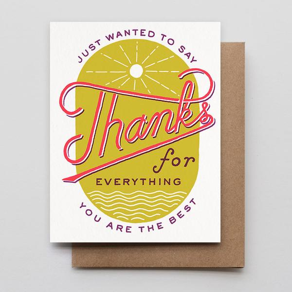 hammerpress sun & sea thanks for everything card