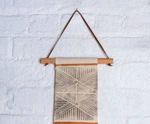 For Reasons Unknown - Nazca Lines Linen Wall Hanging