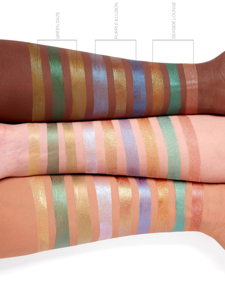 Load image into Gallery viewer, Newly Reformulated - Glitter Liquid Eyeshadow Trio - SEASIDE LOUNGE