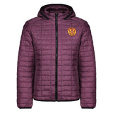 Honeycomb Hooded Jacket Claret