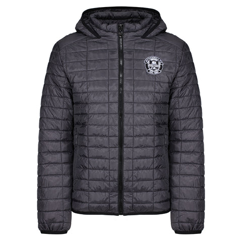 Honeycomb Hooded Jacket Charcoal