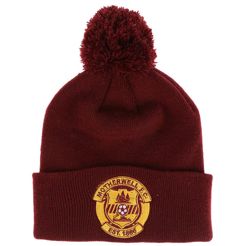 Bobble Hat Claret Senior