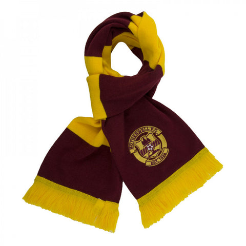 Bar Scarf with Embroidered Crest
