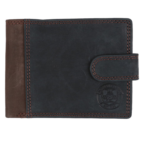 Hunter Leather Wallet Black/Brown