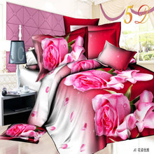 Load image into Gallery viewer, 3D Rose Cotton HomeBed Set