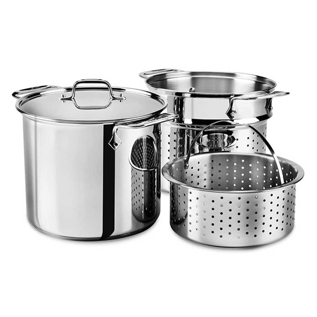 SALE! All Clad 12 Qt Multi Cooker with Straining and Steaming inserts