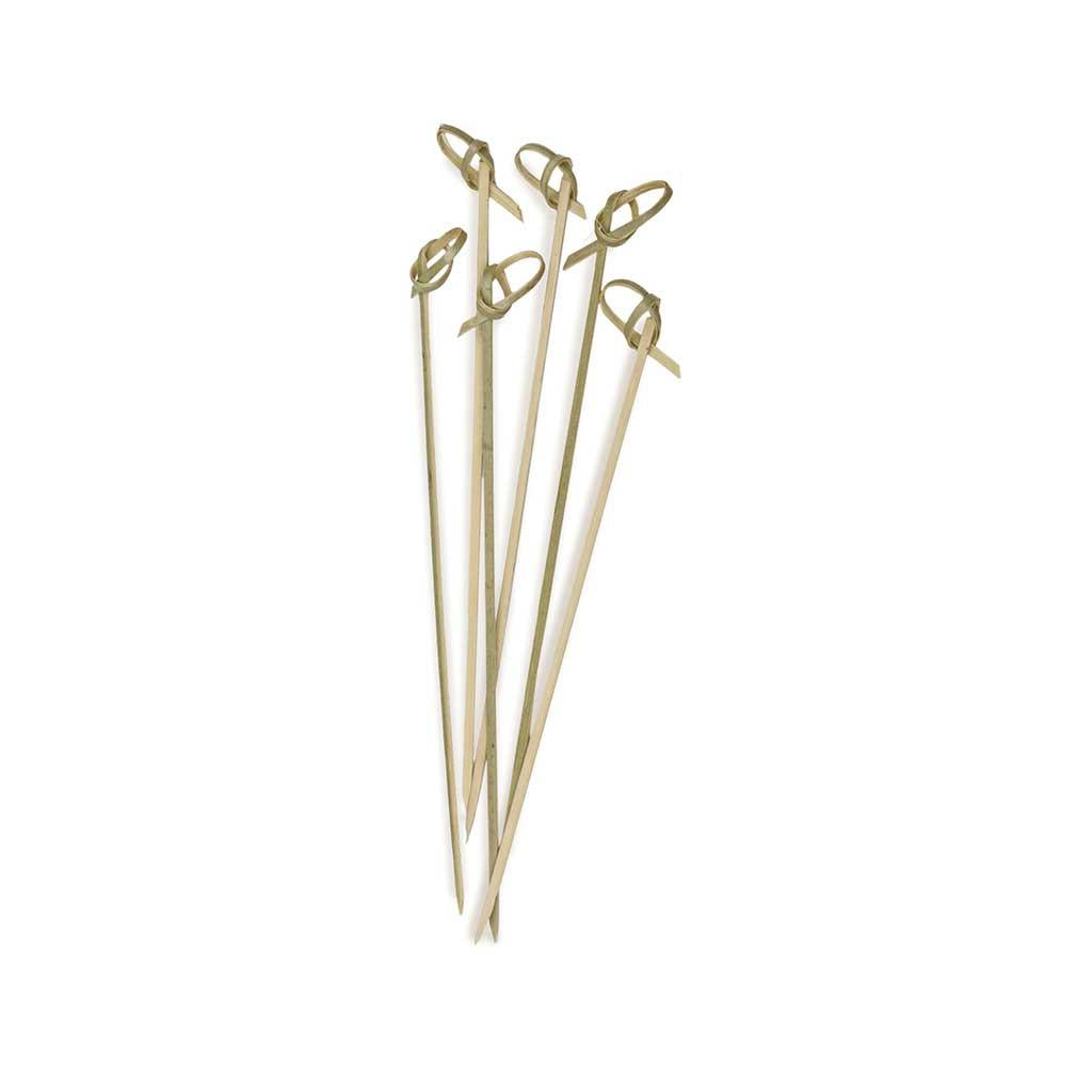 Bamboo Appetizer Picks with Knotted End 6.5 inches
