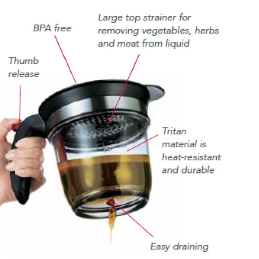 Cuisipro Easy Drain 4 Cup Fat Separator