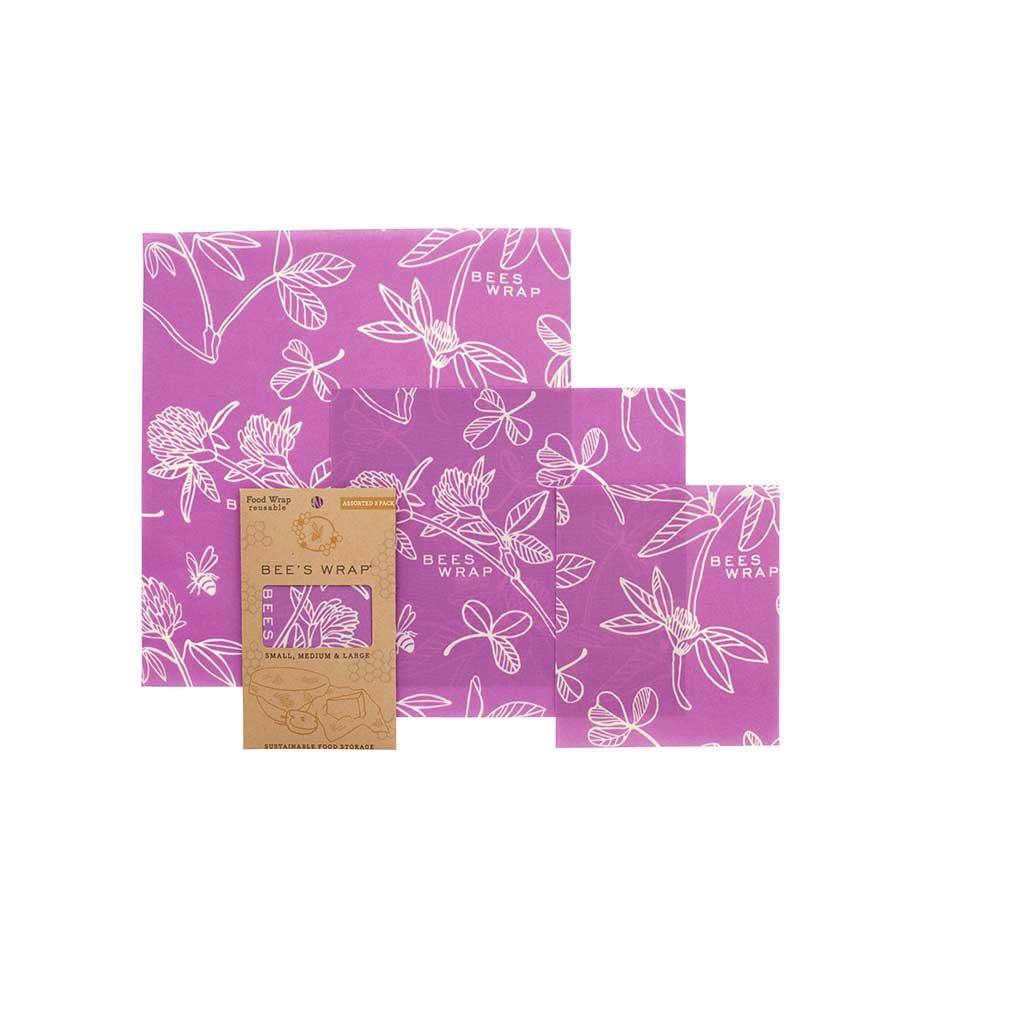 Bee's Wrap Assorted 3 pack Clover Print