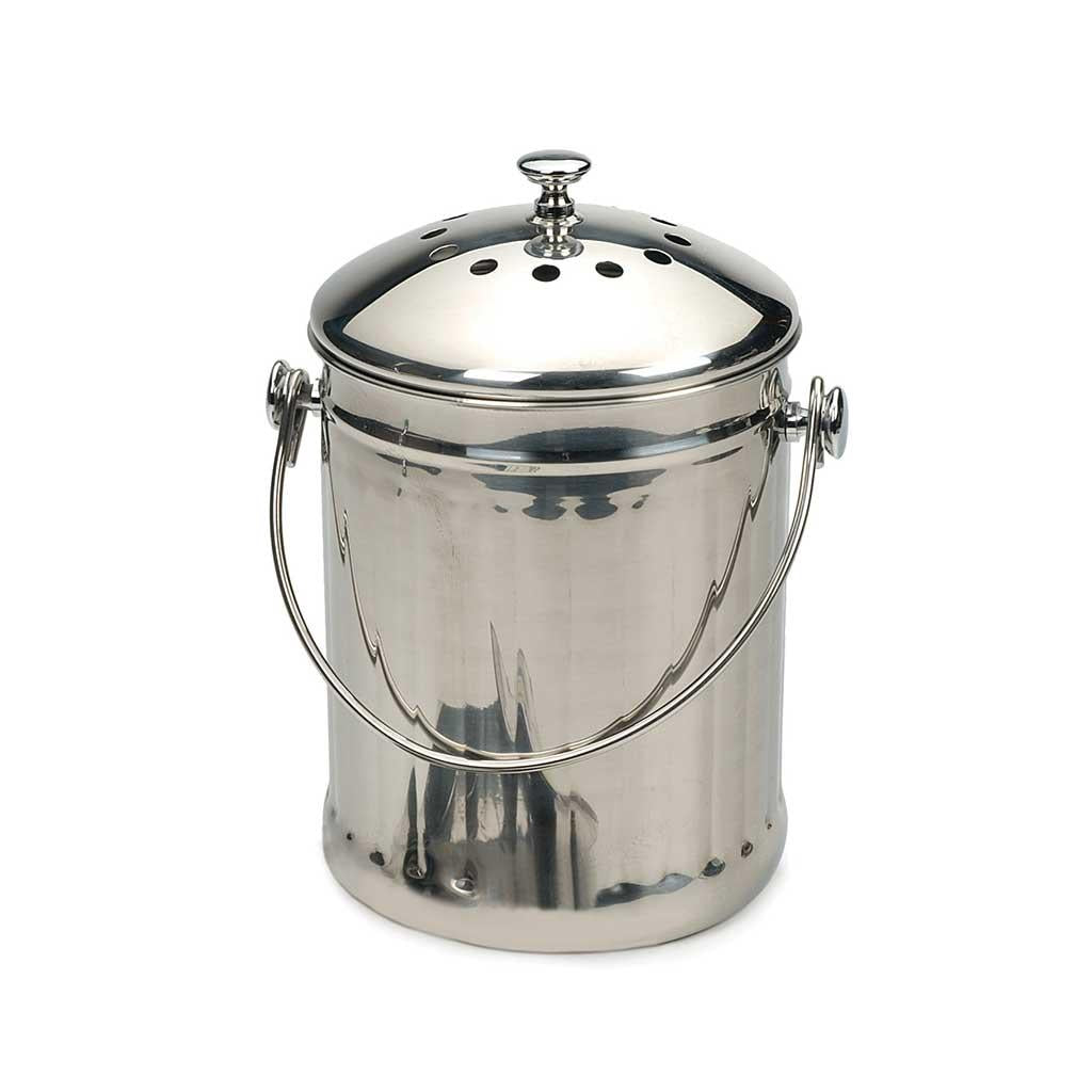 Countertop Stainless Steel Compost Pail 1 Gallon