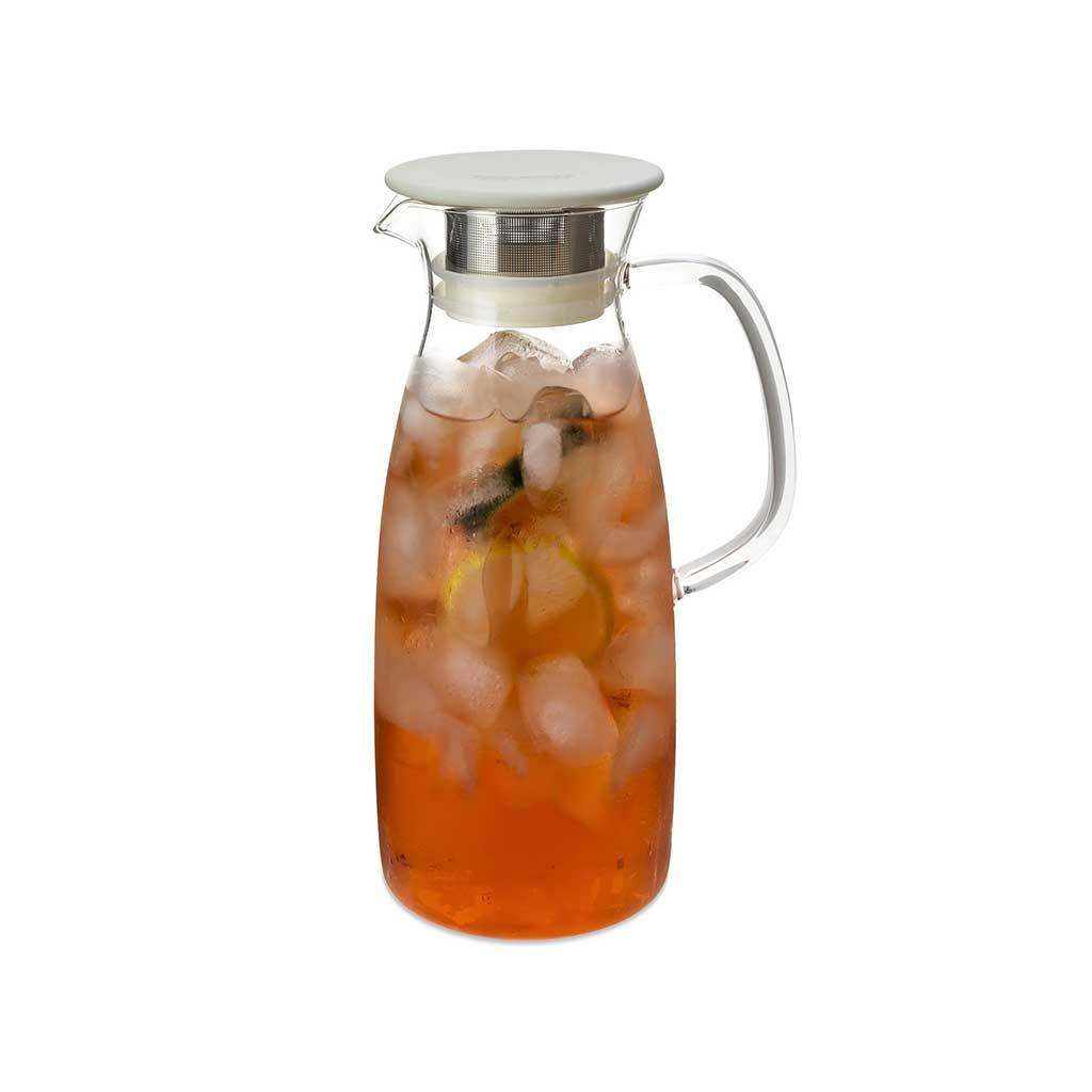 Iced Tea Jug for Hot or Cold Steeping 50 oz White Lid