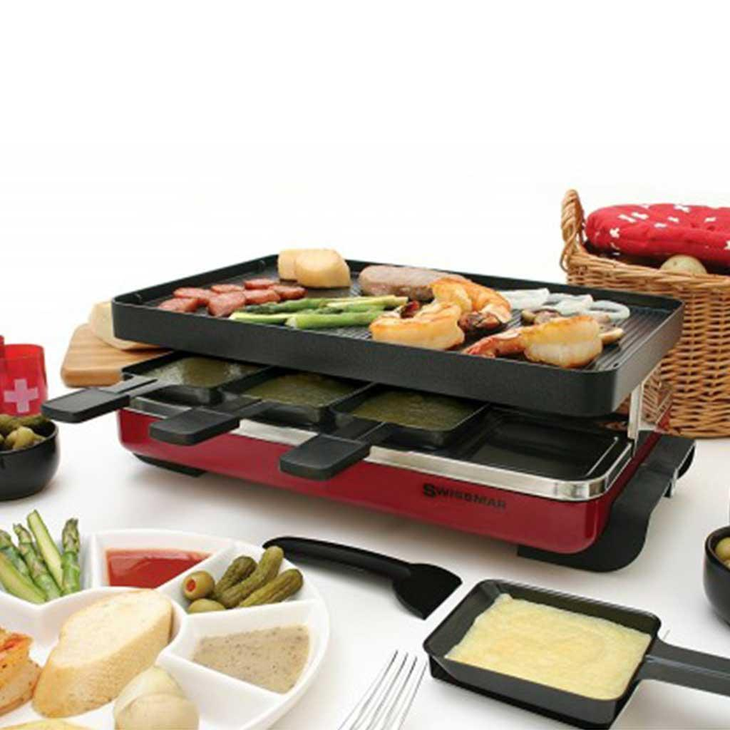 8 person Raclette Grill Red