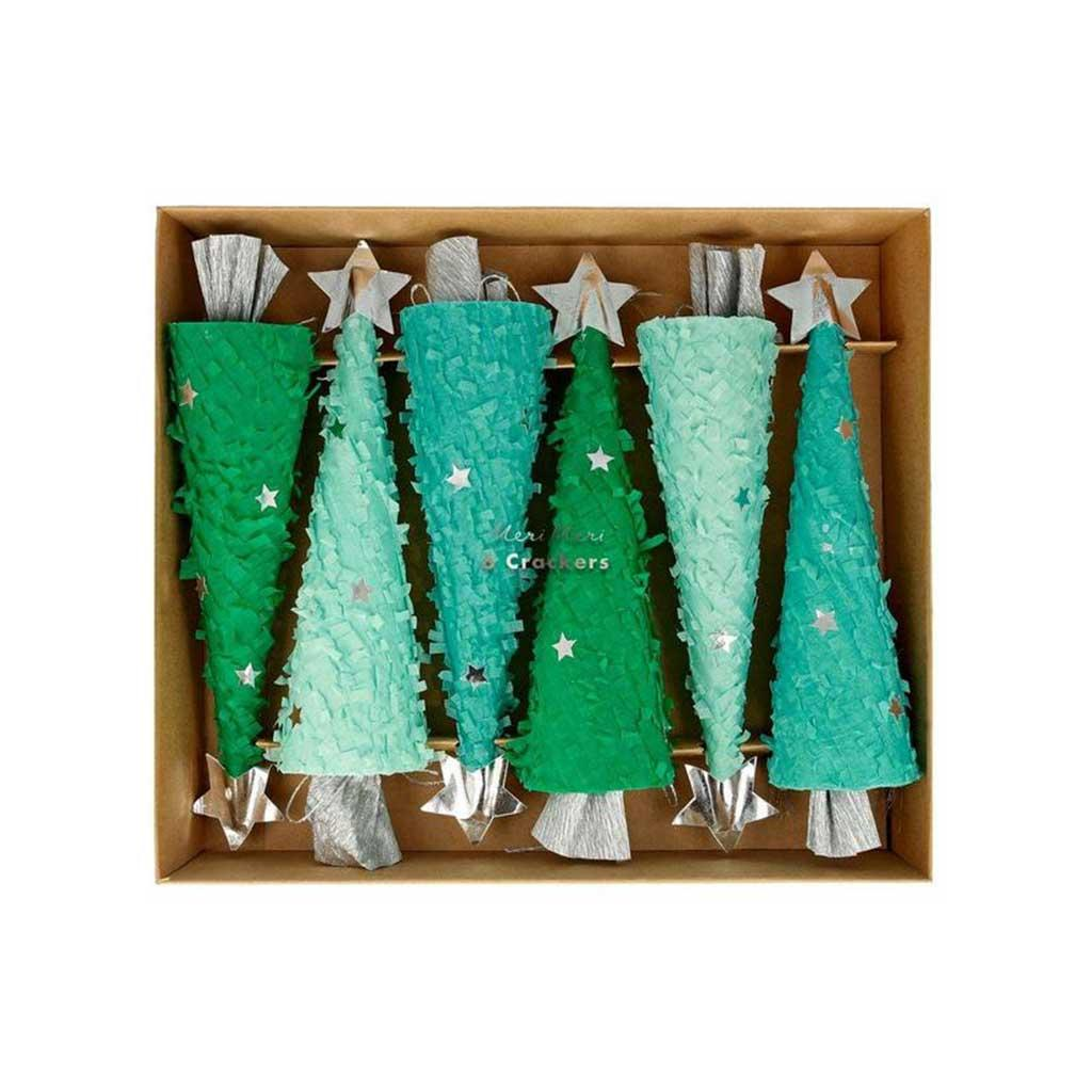 Christmas Crackers Large Trees, Set of 6