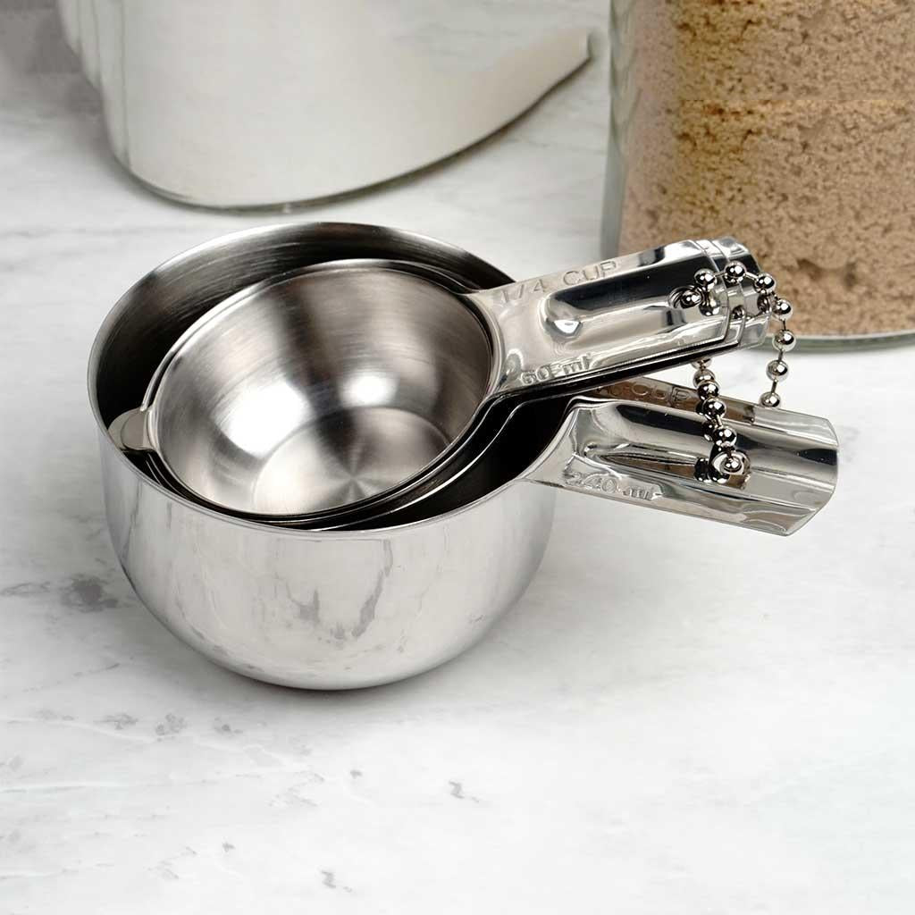4-pc Stainless Steel Measuring Cups