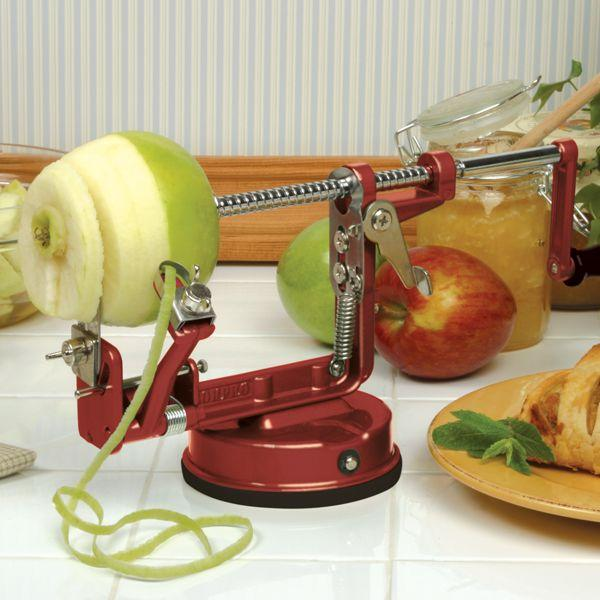 Apple Master with Vacuum Base and Table Clamp Red