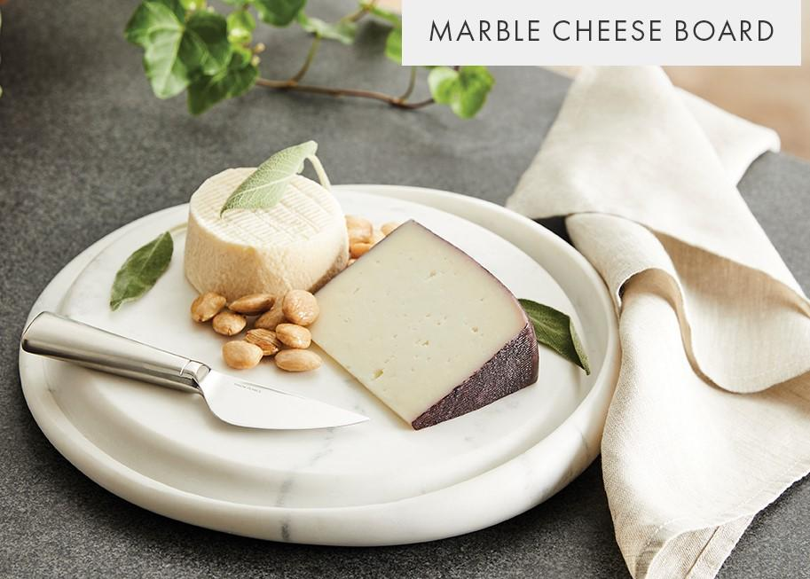 White Marble Cheese Board 11 inch