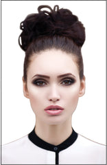 Mia® Fluffy Hair Ponywrap on model - synthetic wig hair - by #MiaKaminski of Mia Beauty