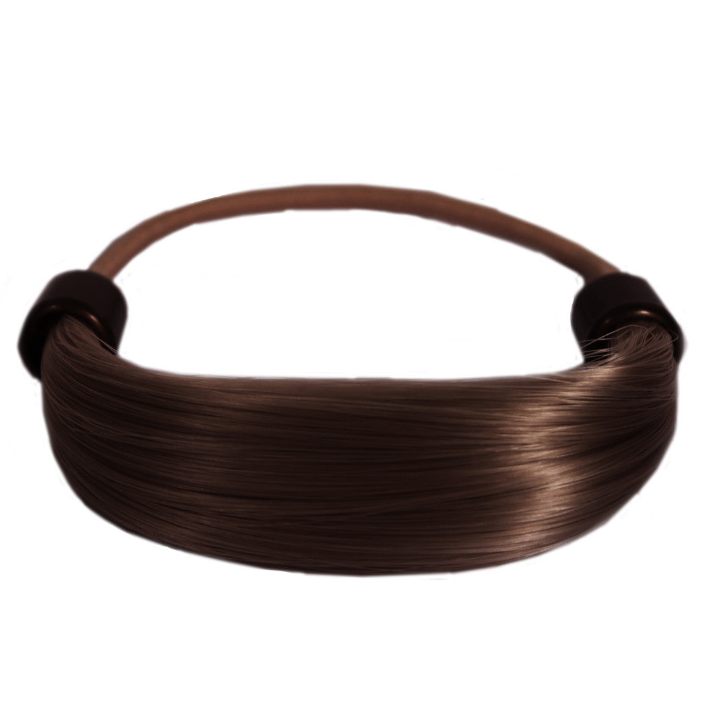 Mia® Tonytail® ponytail wrap- synthetic wig hair - medium brown - patented by #MiaKaminski CEO of Mia® Beauty
